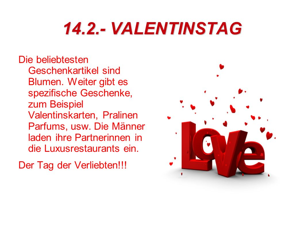 14.2.- VALENTINSTAG