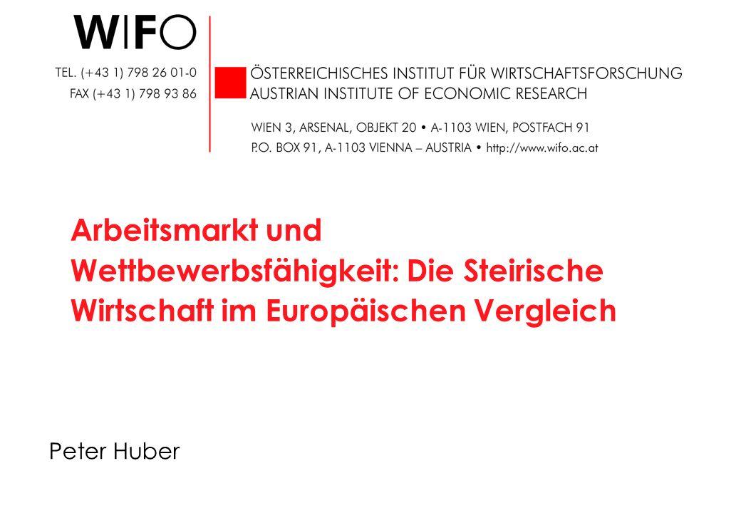 Konjunkturelle Lage Veränderung gegen das Vorjahr in % Steiermark