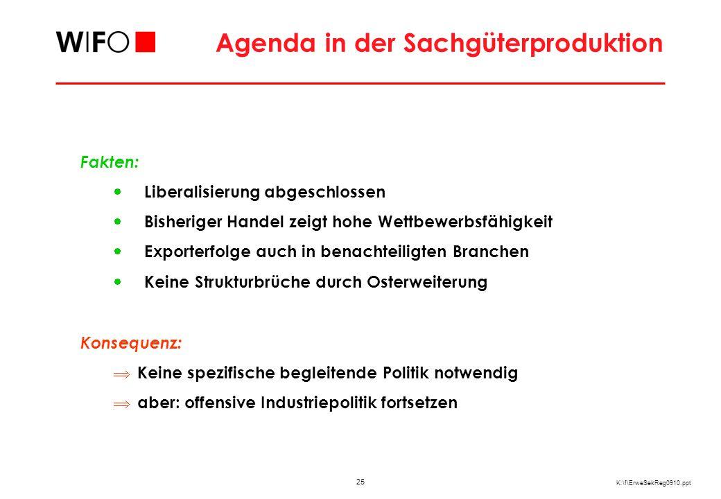Entwicklung des österreichischen Dienstleistungshandels mit den neuen MS 10