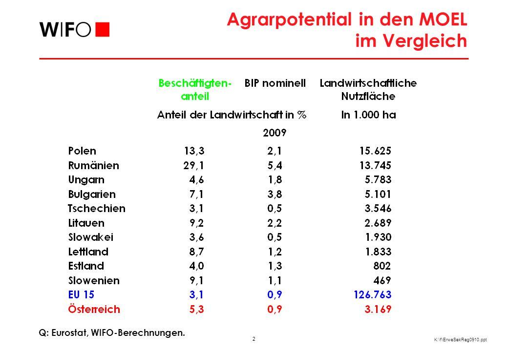Größenstruktur der Landwirtschaft in den Neuen Mitgliedstaaten