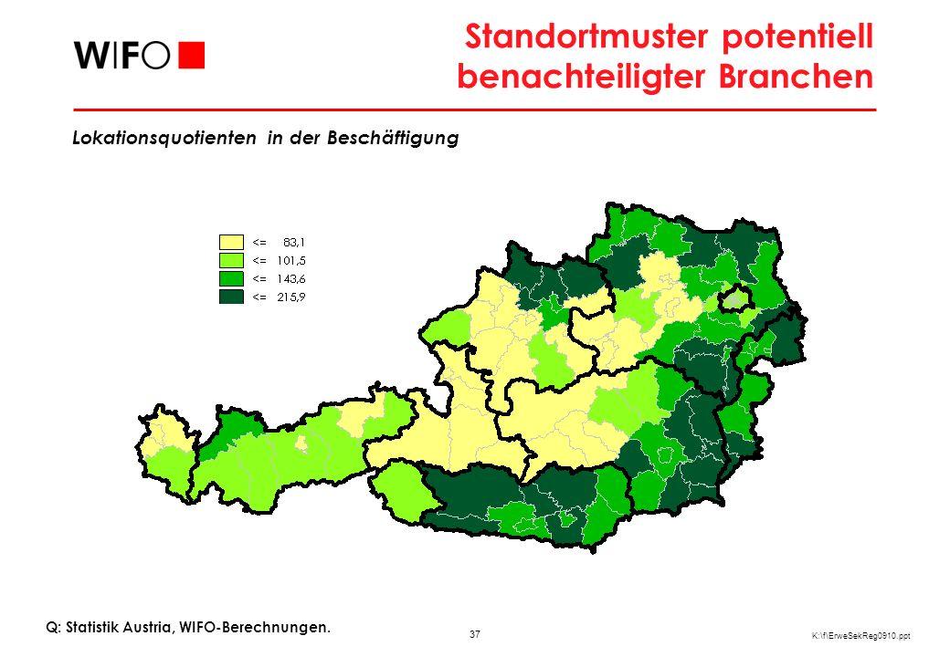 Strukturelle Vor- und Nachteile in Österreichs Regionen