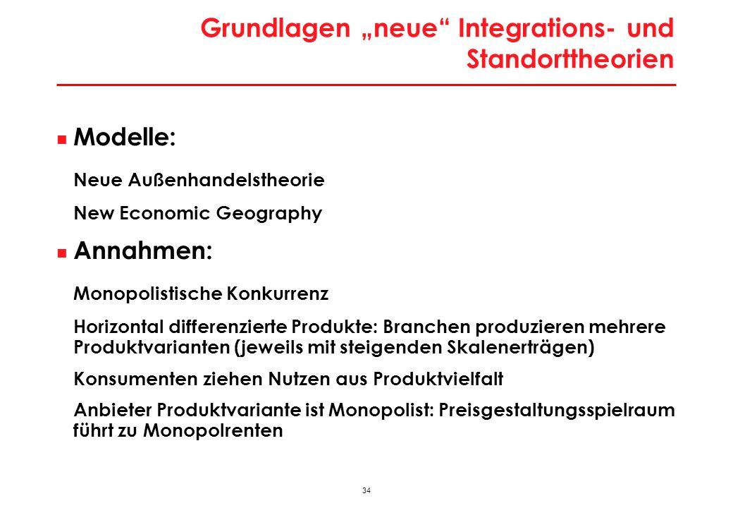 """Erkenntnisse """"Neue Außenhandelstheorie für EU-Erweiterung"""