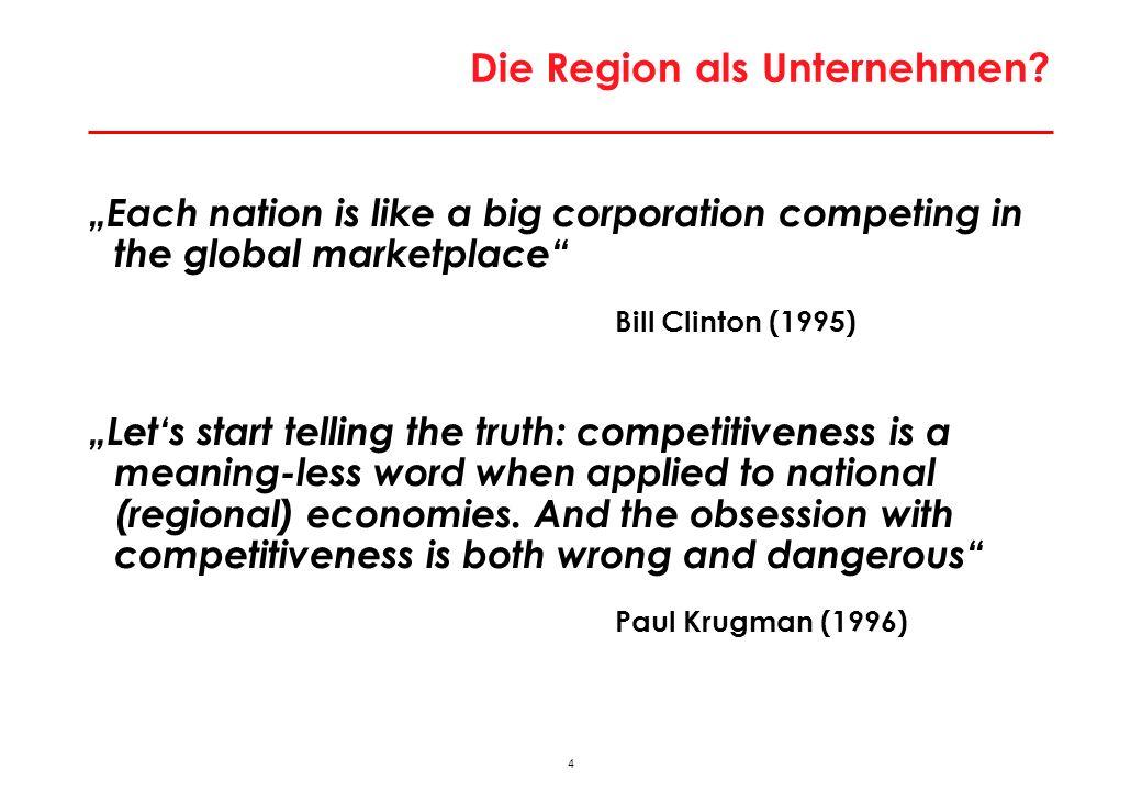"""Argumente gegen Relevanz Konzept """"regionale Wettbewerbsfähigkeit"""