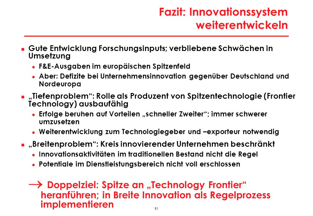 Innovationsbasierte Wachstumsstrategie