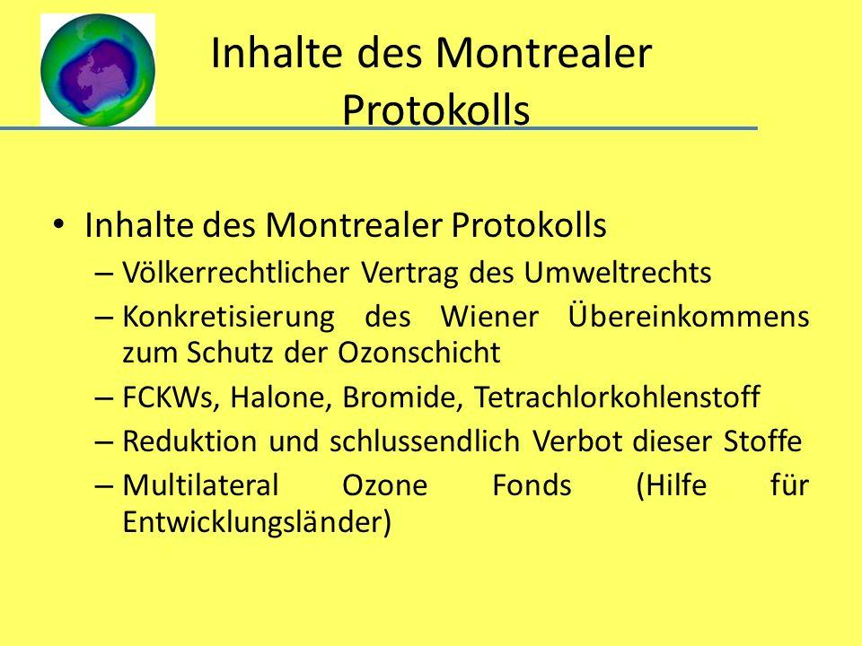 Inhalte des Montrealer Protokolls