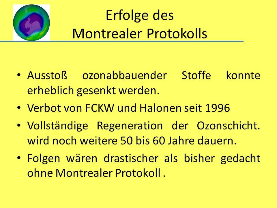 Erfolge des Montrealer Protokolls