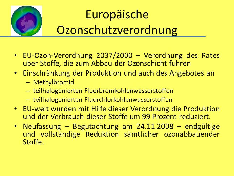 Europäische Ozonschutzverordnung
