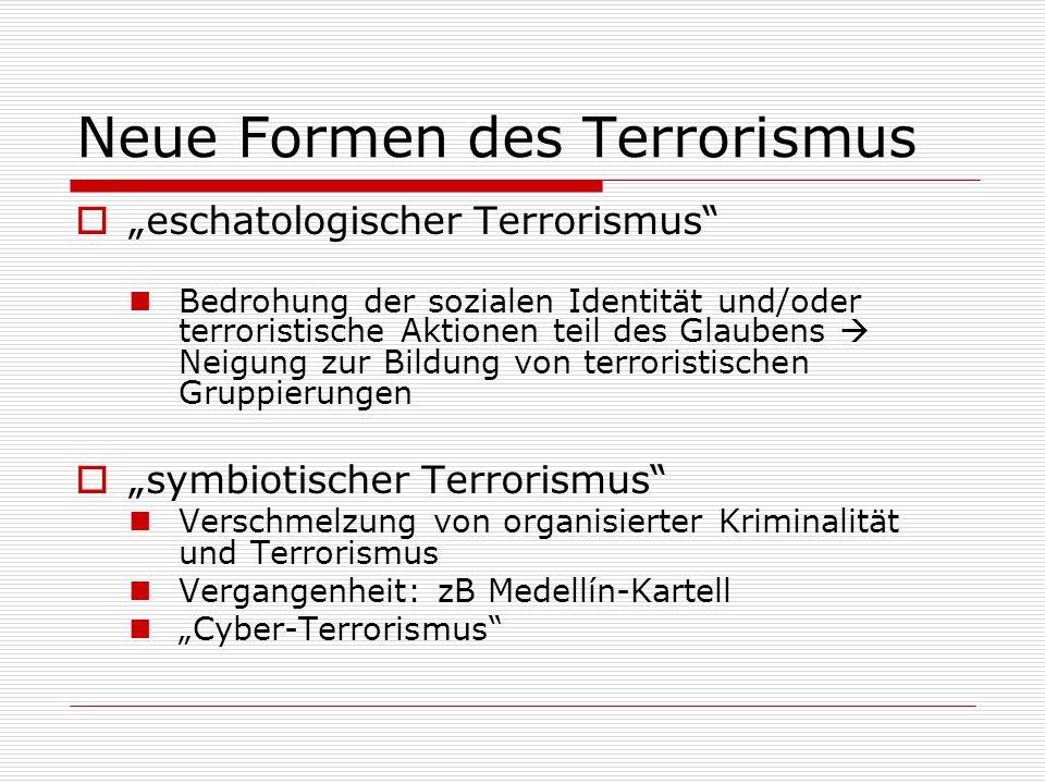 Neue Formen des Terrorismus