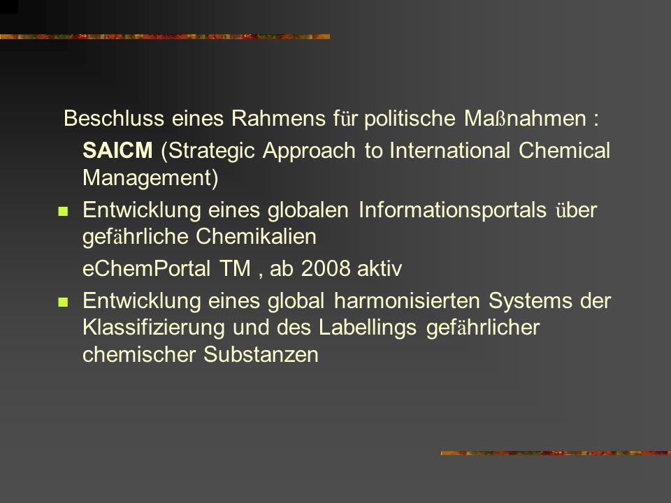 Beschluss eines Rahmens für politische Maßnahmen :