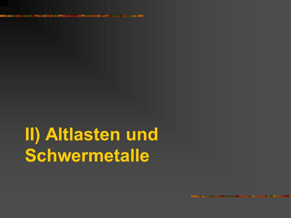 II) Altlasten und Schwermetalle