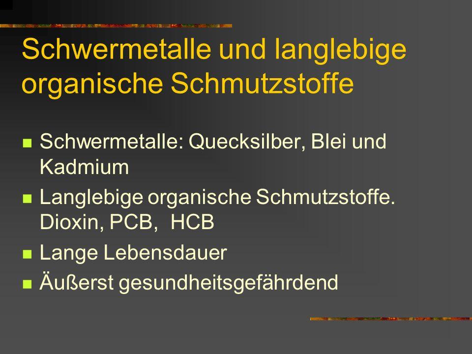 Schwermetalle und langlebige organische Schmutzstoffe