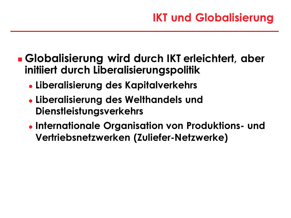 IKT und Globalisierung