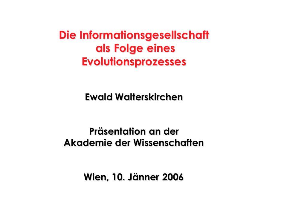 Die Informationsgesellschaft als Folge eines Evolutionsprozesses