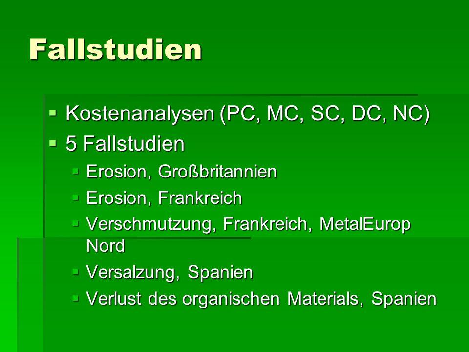 Fallstudien Kostenanalysen (PC, MC, SC, DC, NC) 5 Fallstudien