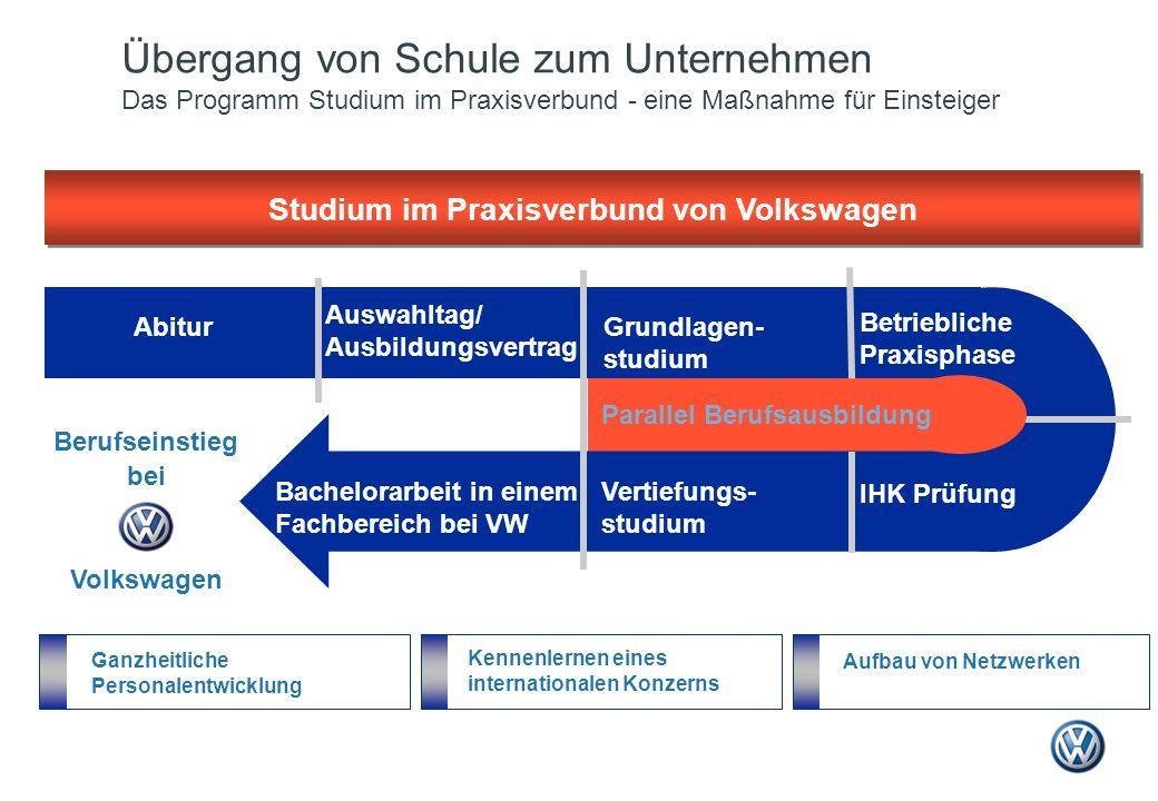 Studium im Praxisverbund von Volkswagen