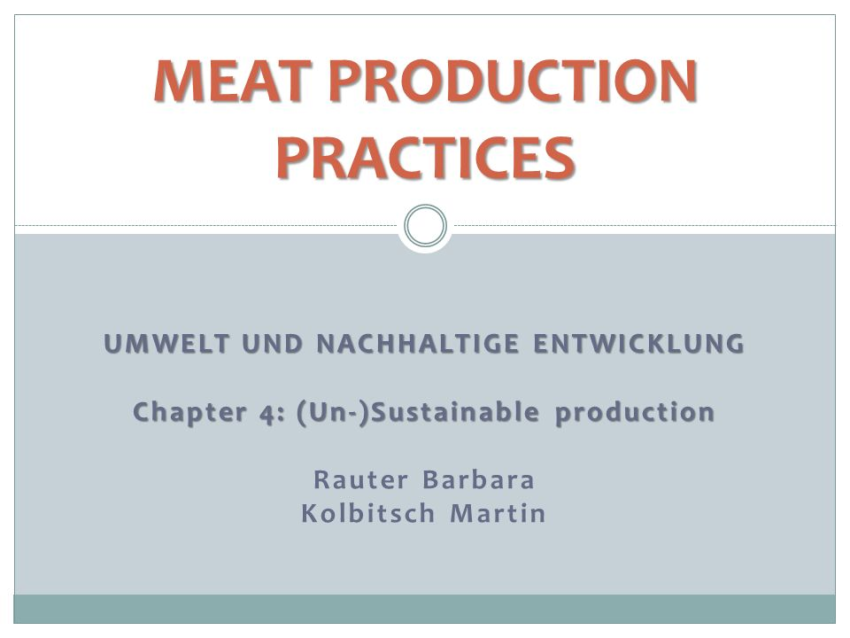 meat production practices
