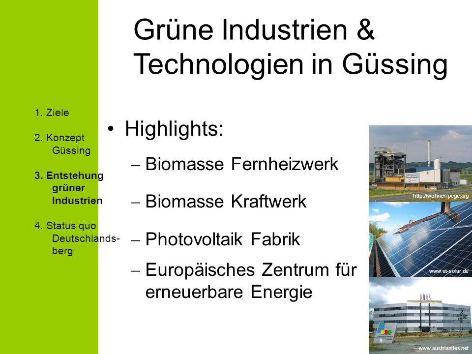 Grüne Industrien & Technologien in Güssing