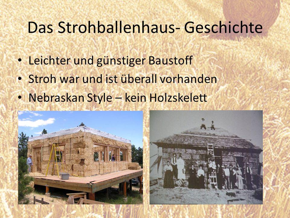 Das Strohballenhaus- Geschichte