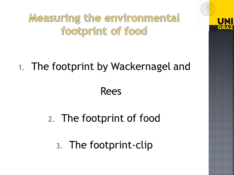 Measuring the environmental footprint of food
