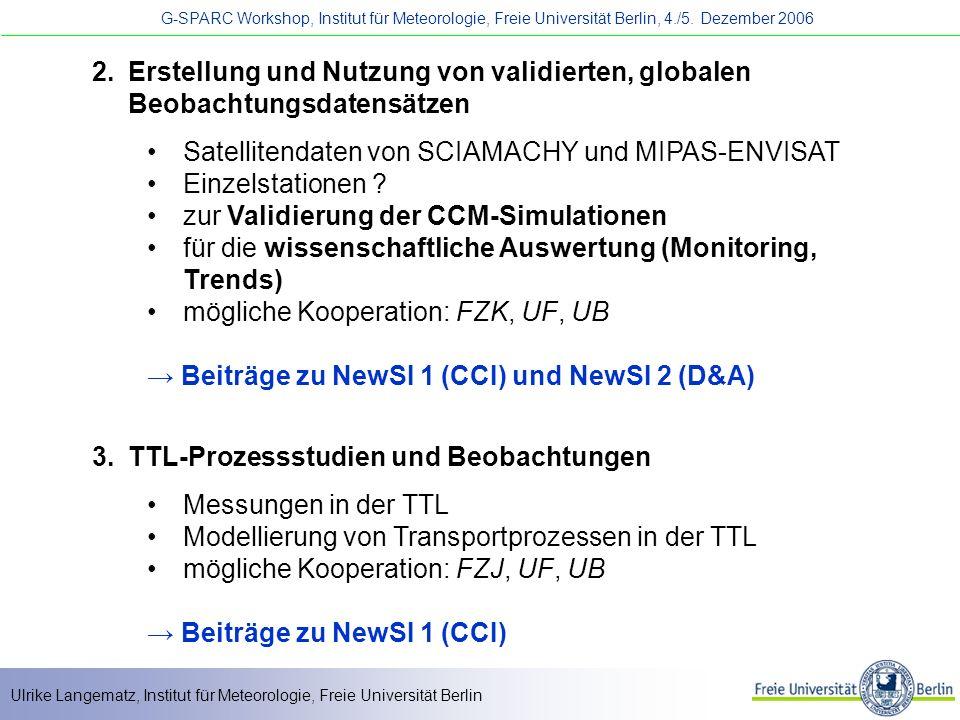 Erstellung und Nutzung von validierten, globalen Beobachtungsdatensätzen