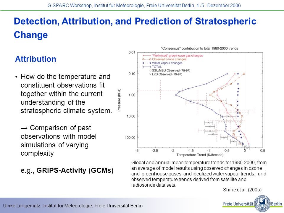 Detection, Attribution, and Prediction of Stratospheric Change