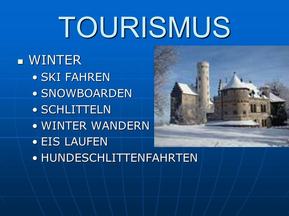 TOURISMUS WINTER SKI FAHREN SNOWBOARDEN SCHLITTELN WINTER WANDERN