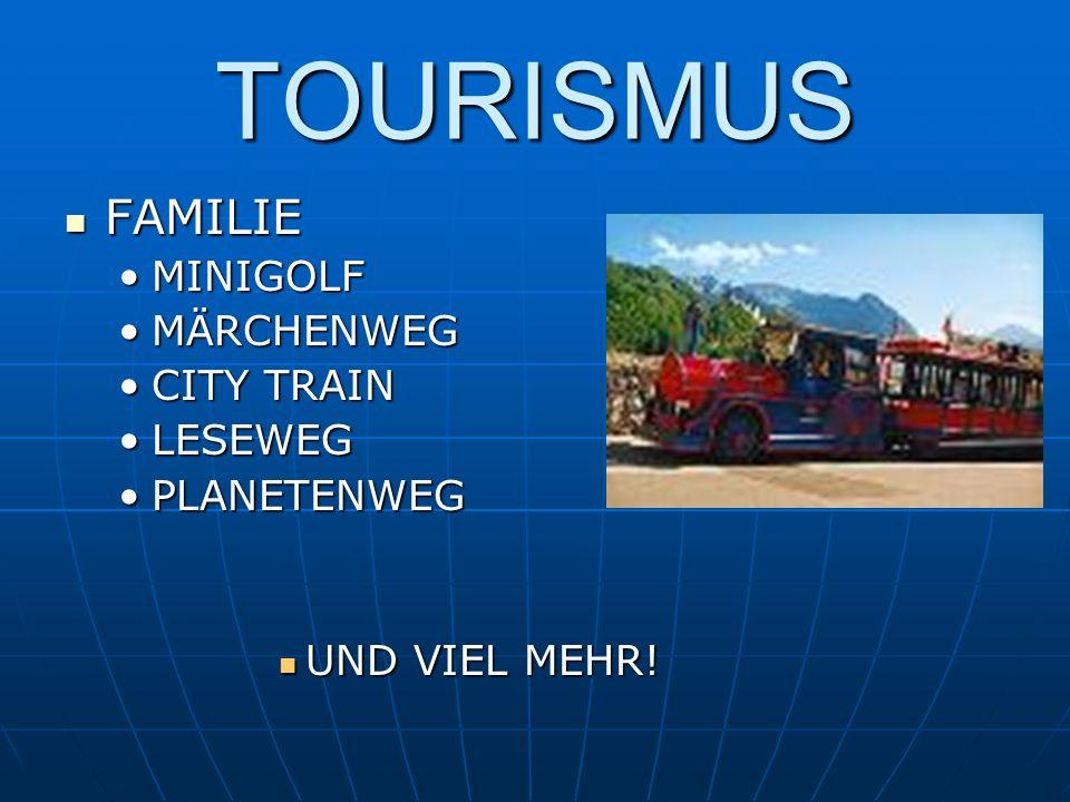 TOURISMUS FAMILIE MINIGOLF MÄRCHENWEG CITY TRAIN LESEWEG PLANETENWEG