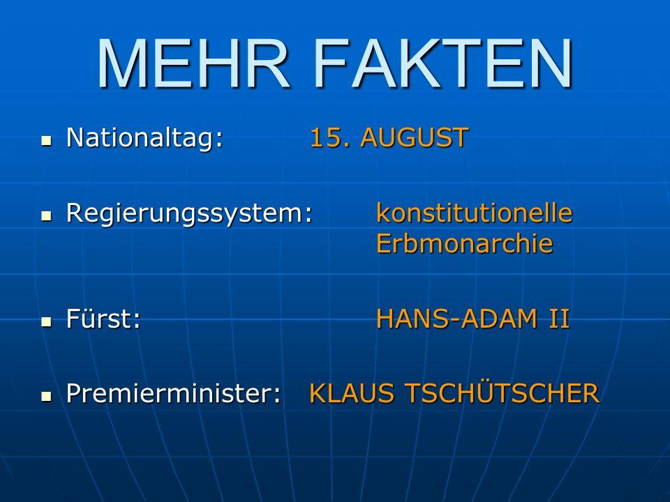MEHR FAKTEN Nationaltag: 15. AUGUST