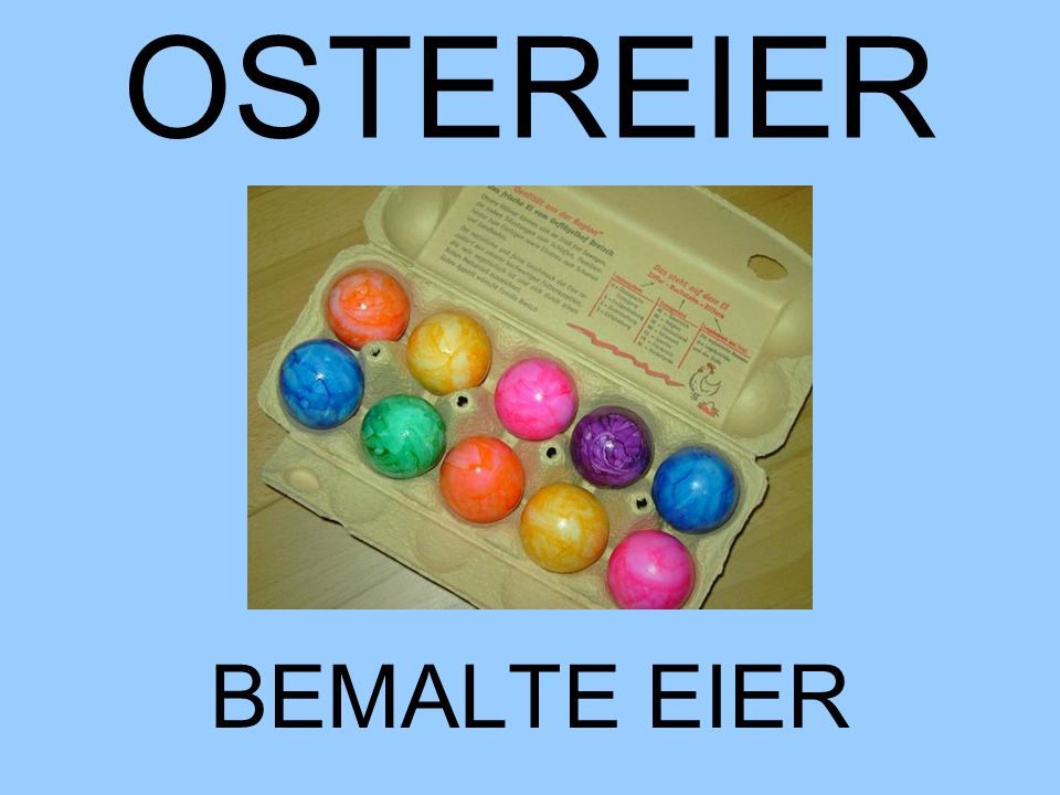 OSTEREIER BEMALTE EIER