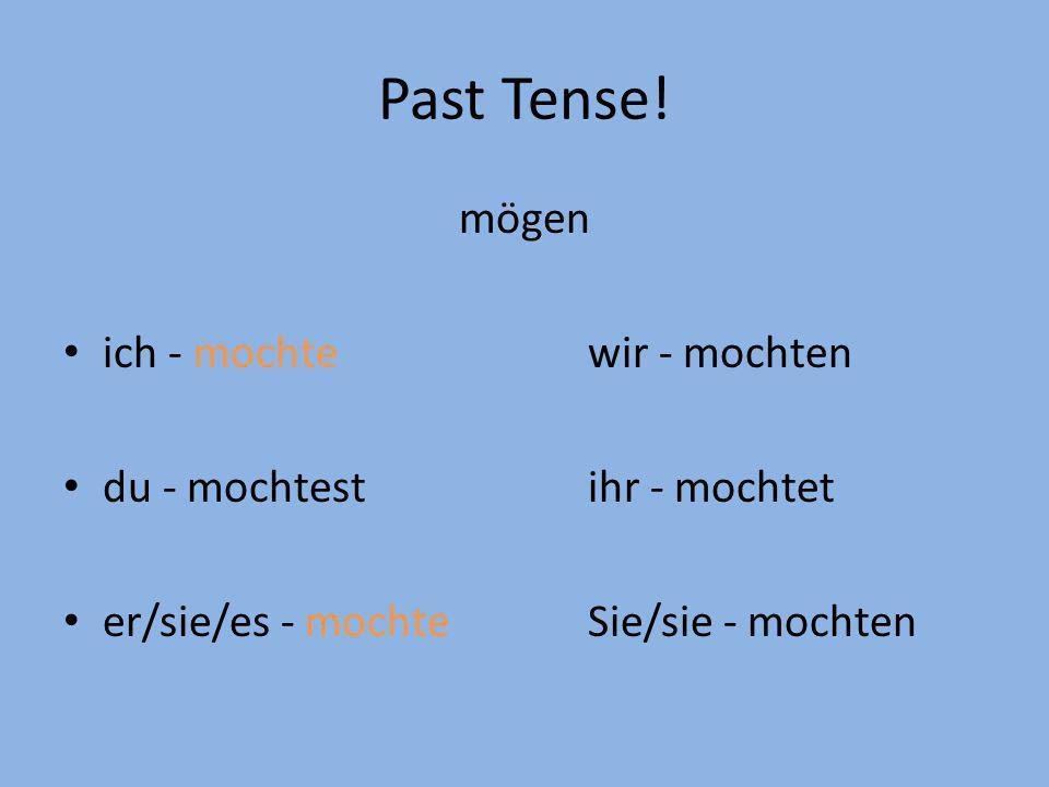 Past Tense! mögen ich - mochte wir - mochten