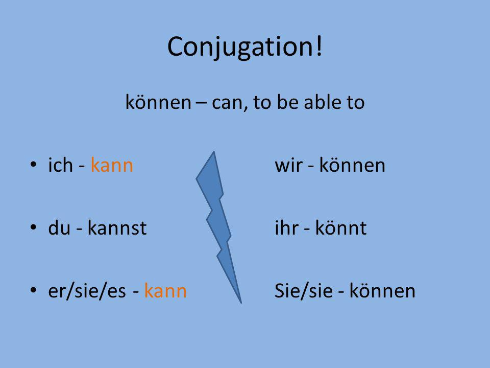 können – can, to be able to