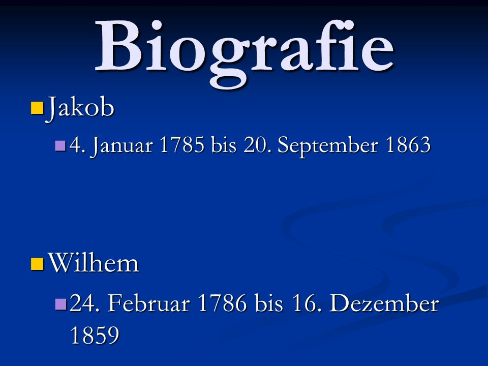 Biografie Jakob Wilhem 24. Februar 1786 bis 16. Dezember 1859