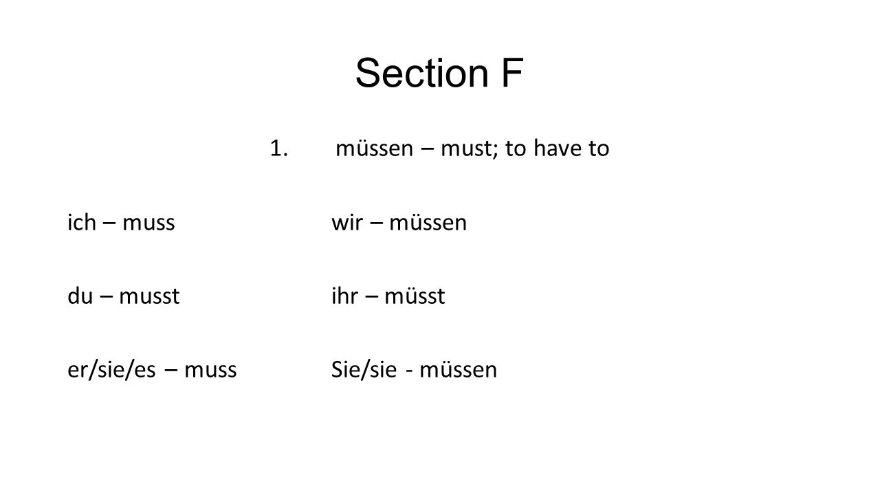 Section F 1.