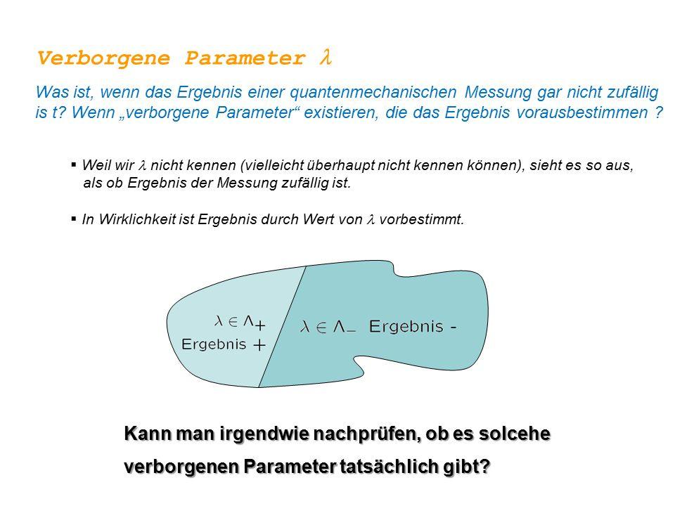 Verborgene Parameter l