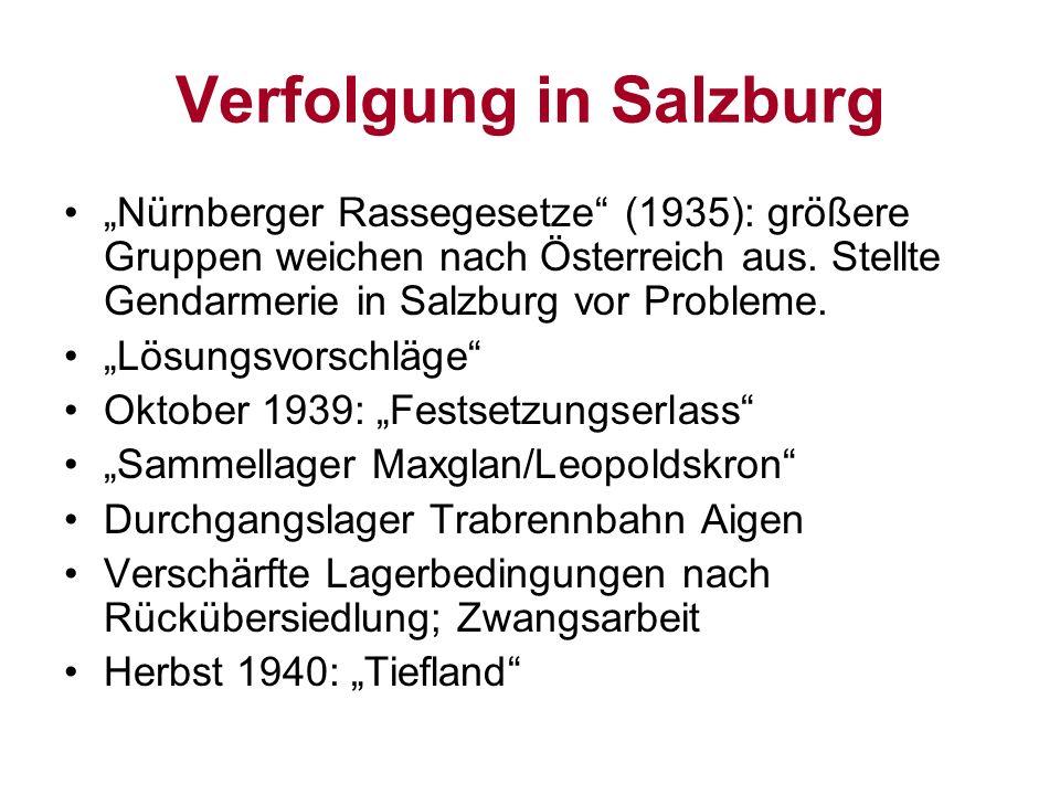 Verfolgung in Salzburg