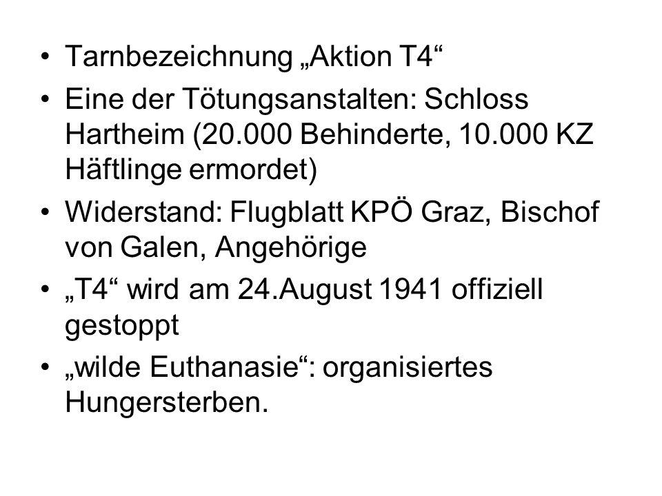 """Tarnbezeichnung """"Aktion T4"""