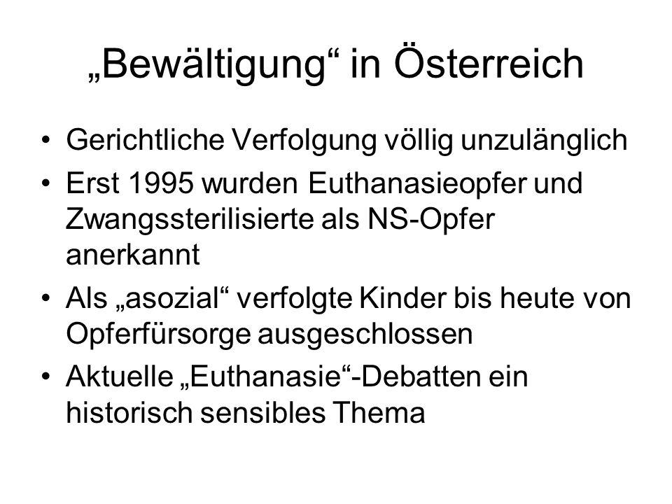 """""""Bewältigung in Österreich"""
