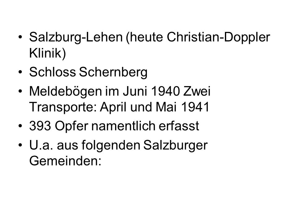 Salzburg-Lehen (heute Christian-Doppler Klinik)