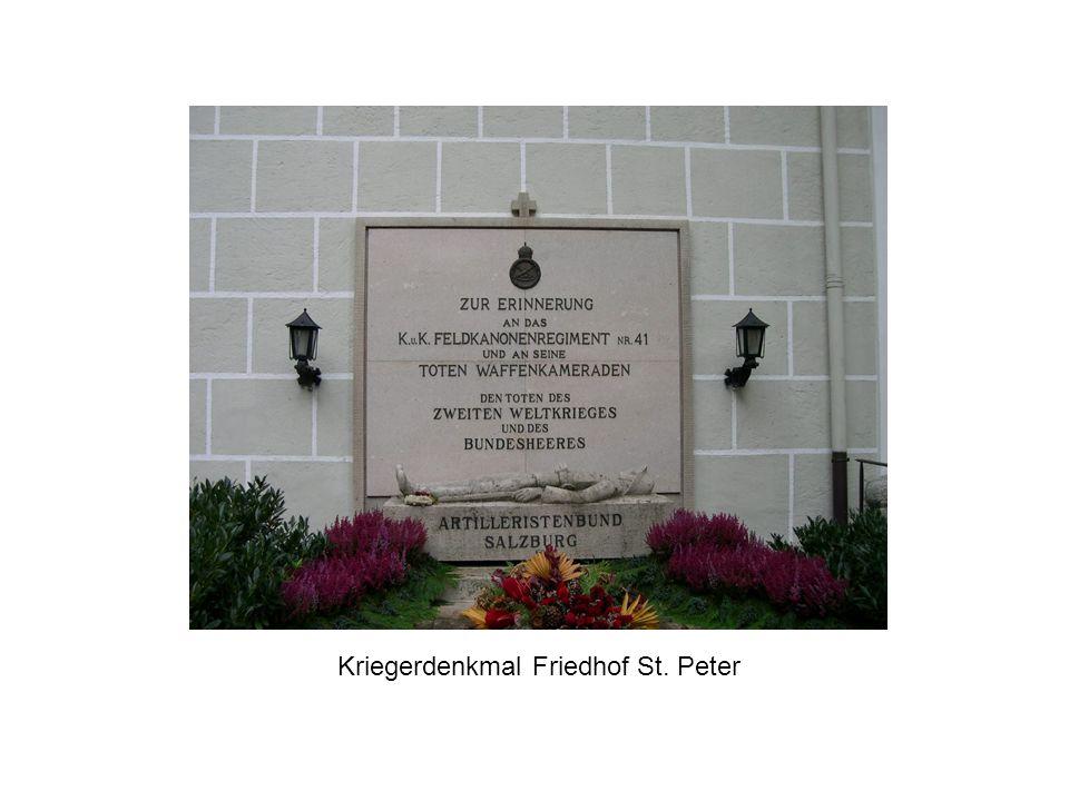 Kriegerdenkmal Friedhof St. Peter
