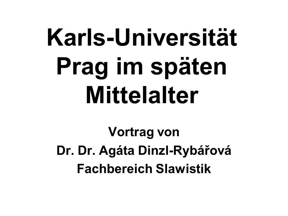 Karls-Universität Prag im späten Mittelalter