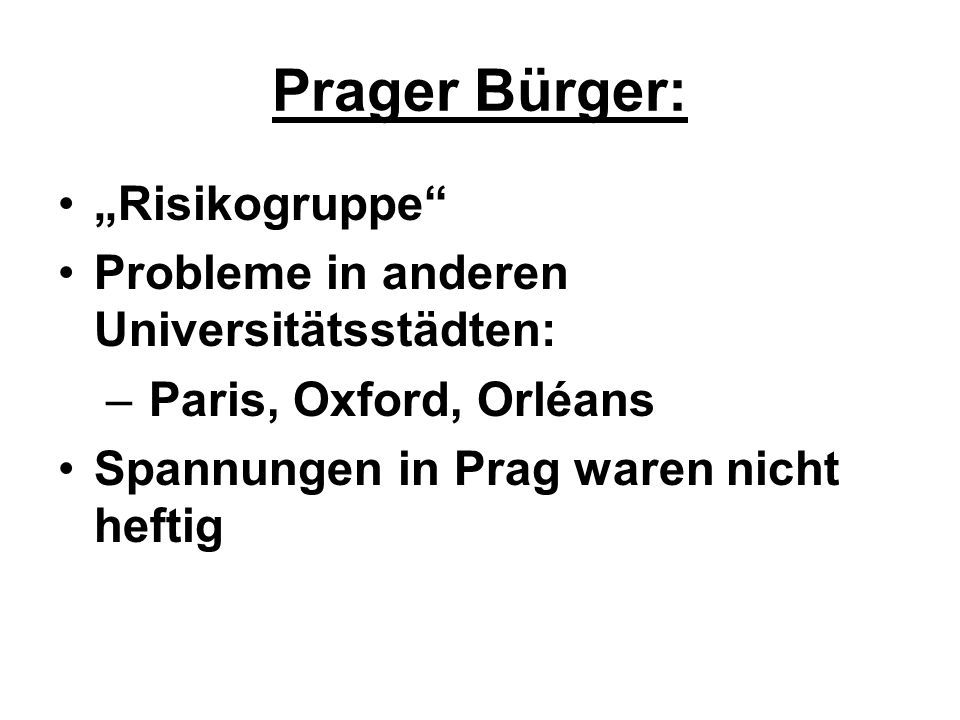 "Prager Bürger: ""Risikogruppe Probleme in anderen Universitätsstädten:"