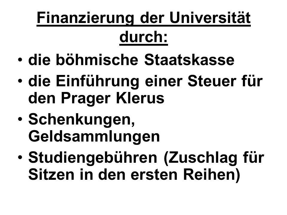 Finanzierung der Universität durch:
