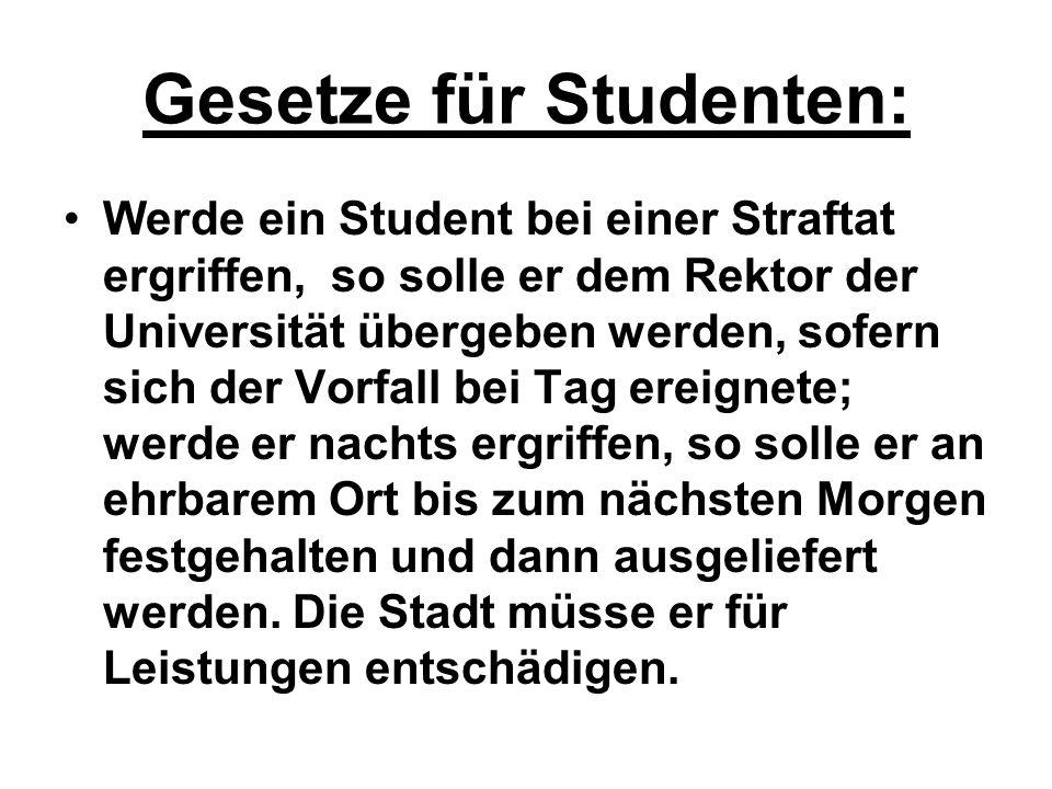 Gesetze für Studenten: