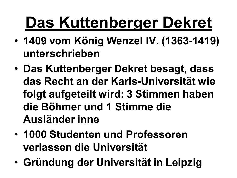 Das Kuttenberger Dekret