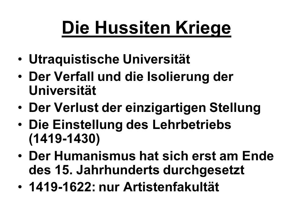 Die Hussiten Kriege Utraquistische Universität