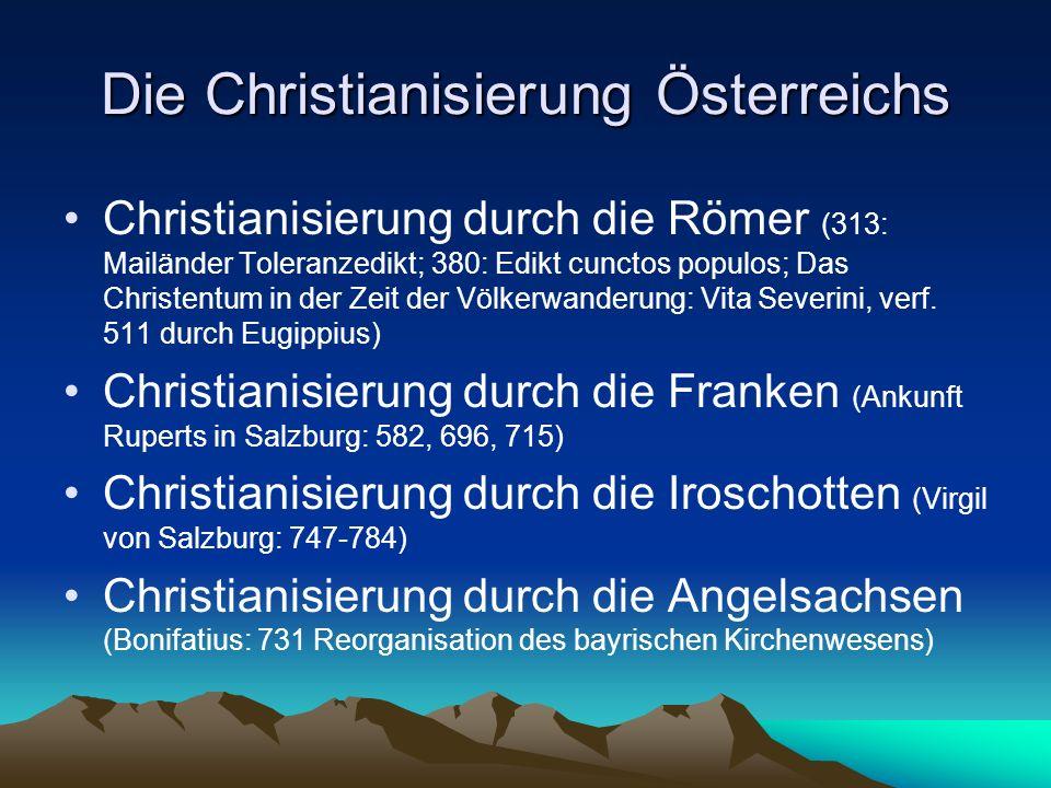 Die Christianisierung Österreichs