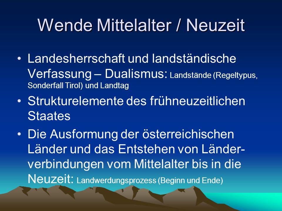 Wende Mittelalter / Neuzeit