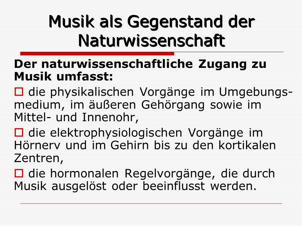 Musik als Gegenstand der Naturwissenschaft
