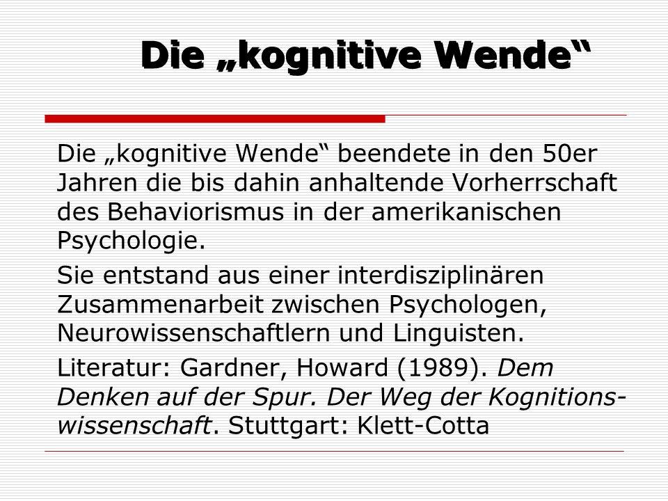 """Die """"kognitive Wende"""
