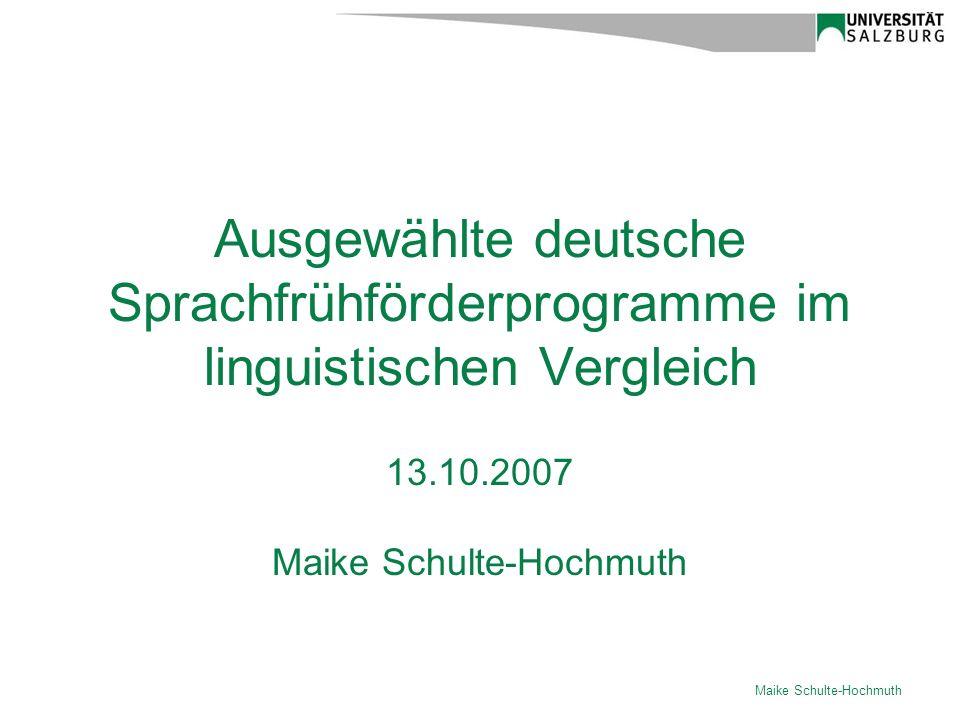 13.10.2007 Maike Schulte-Hochmuth